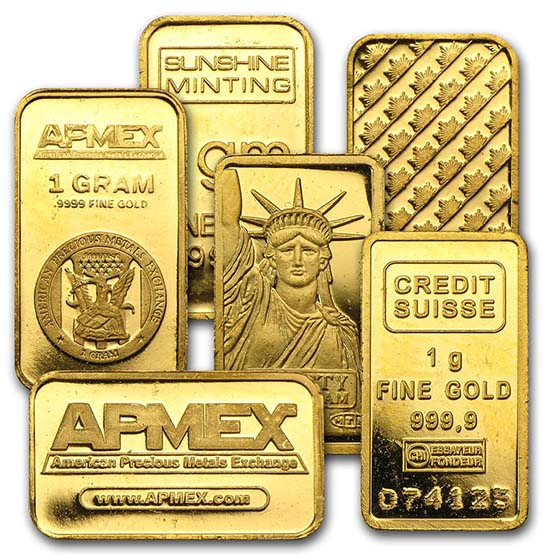 1 gram Gold Bars - Secondary Market